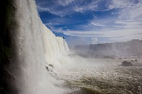 Photograph of the Iguacu Waterfalls in Brazil