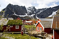 Photograph of a small fishing village in Norway
