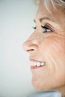 Smiling profile of woman