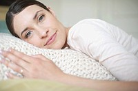 Woman laying on blanket (thumbnail)