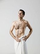 Man wearing towel