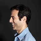 Profile of man smiling
