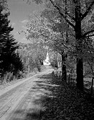 Rural road to church