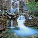 Waterfall, Tangle Falls, Jasper National Park, Alberta, Canada