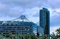 Sony Center and Deutsche Bahn building Berlin  Germany