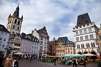 Market square in Trier. Mosel Valley. Germany