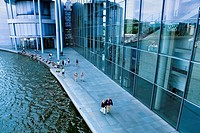 River Spree  Paul Löbe building by Stephan Braunfels It lodges several offices of the German Bundestag Berlin  Germany