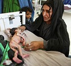 pediatric ward of an Afghan hospital