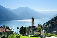 Church at Lake Como, Argegno, Lombardy, Italy