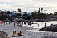 People on the beach, Clifton, Capetown, Western Cape, RSA, South Africa