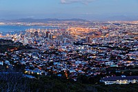 View from Signal Hill road over Capetown, Western Cape, RSA, South Africa, Africa