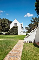 Winery at Palmiet Valley, dutch architecture, Paarl, Cape Town, Western Cape, South Africa, Africa