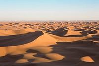 Sand dunes, Dunes de Juifs in the desert near Zagora, Sahara, Morocco