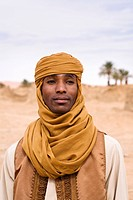 Tuareg in the ruins of Old Germa, Libya, Sahara, North Africa