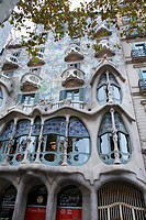 Casa Batllo by architect Antoni Gaudi, Barcelona, Catalonia, Spain