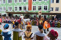 Taenzelfest, Kaufbeuren, Bavaria, Germany, Europe