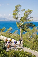 Cycling at Alcudia, Majorca, Spain