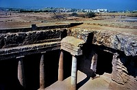Greece,Cyprus Island, greek part,Kato Pafos, the tomb of Kings, is a large necropolis,N/W of Paphos,the underground tombs date 3-4th century BCE