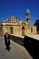Greece,Cyprus Island, greek part, old churches Ayii Varnavas and Hilarion have five domes and three aisles, X century