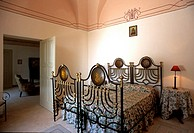 Italy,South,Puglia region,Fasano village, Marzalossa manor farm, bedroom