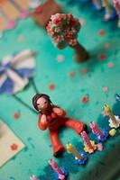 parachutist on cake