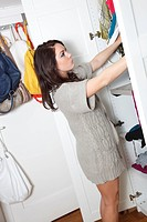 young woman looking for the right clothes