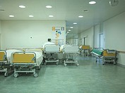 Interiors of hospital ward