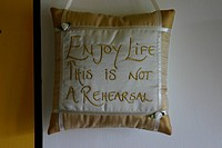 pillow _ Enjoy Life This Is Not A Rehearsal