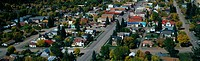 This is a small town in the western part of the United States. It is known as the Little Switzerland of America. It is autumn and shows small town Ame...