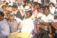 An African_American audience laughing, Los Angeles, CA