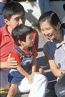 An Asian_American family, Little Tokyo, Los Angeles, CA