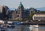 A view of the Legislative Building, the Capital building of BC.
