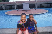 Two African_American Children at the Martin Luther King Center, Atlanta, Georgia