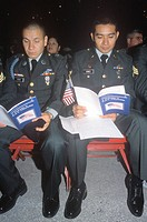Two Soldiers at Citizenship Ceremony, Los Angeles, California