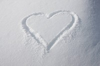 Heart shape in the snow