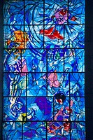 Stained glass window with design by Marc Chagall, Marc Chagall Museum, Nice, France