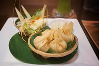 Traditional Thai fried shrimp dumplings