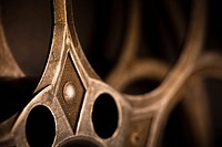 Detail of Empty Movie Reel
