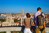Panoramic view with the cathedral. Burgos. Castilla-Leon. Spain