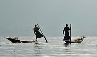 Fishermen in Inle Lake, Myanmar