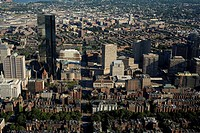 Aerial view, Copley Square, Back Bay, Boston, MA