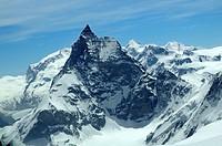 Matterhorn west face, Zermatt, Valais, Schweiz