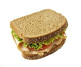 Turkey, lettuce/tomato sandwich on whole wheat