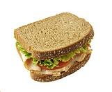Turkey, lettuce/tomato sandwich on whole wheat
