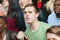 Man watching football match