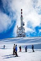 Orri peak.Telecommunications towers. Ski resort of Port Aine. Catalan Pyrenees. Rialp.  Pallars Sobira.  Lleida-provincia. Catalonia.Spain.