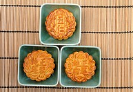 Chinese mooncakes for mid-autumn or moon festival