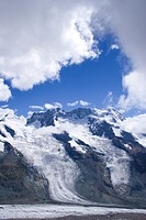 Gornergrat Glacier, near Matterhorn, Swiss Alps