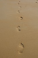 Foot Prints In The Sand,Santander,Spain