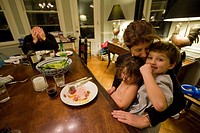 A family eats dinner in Washington, D.C.